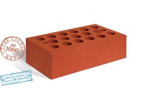 Облицовочный гладкий красный кирпич (М-150)